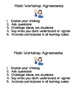 Math Workshop Agreements