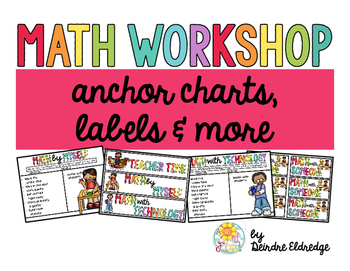 Math Workshop Anchor Charts and Labels