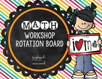 Math Workshop Board