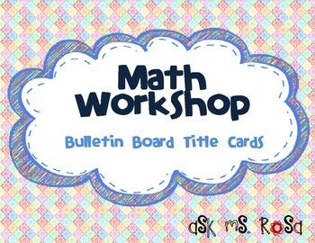 Math Workshop Bulletin Board Cards