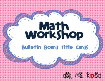Math Workshop Bulletin Board - Pink Dots