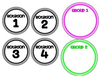 Math Workshop Rotation Board Set