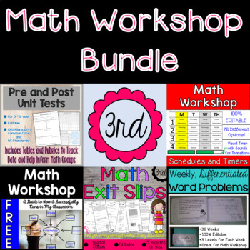 Math Workshop Bundle - 3rd Grade