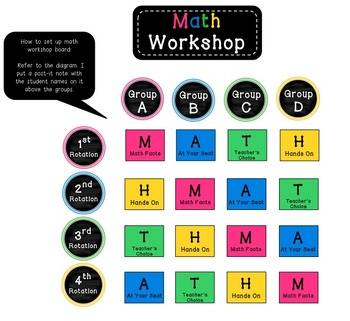 Math Workshop Cards/workboard