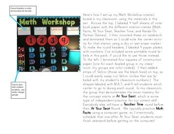 Math Workshop Center Rotation Bulletin Board Set
