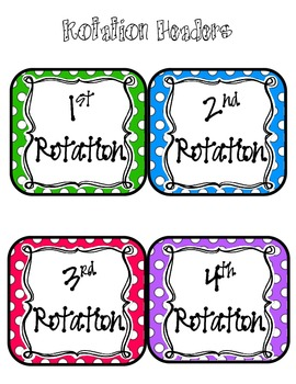Math Workshop Centers/Rotation Board