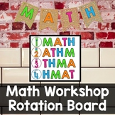 Math Workshop Rotation Board (Burlap)