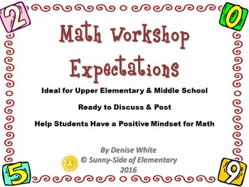 Math Workshop Expectations