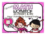 Math Workshop February- 10 Print and Go Games and Activities