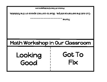 Math Workshop Foldable