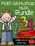 Math Workshop Full Year Mega Bundle (For Upper Elementary/Middle School Math)