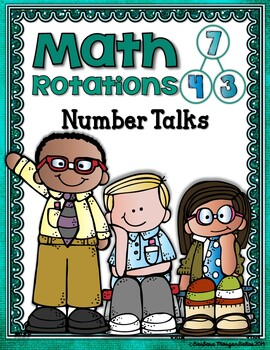 Math Workshop Guided Math {Mini-Anchor Charts} Math Rotations Turquois