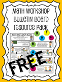 Math Workshop (Guided Math) Bulletin Board Resource Pack