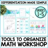 Math Workshop & Guided Math Starter Kit   Organization Too