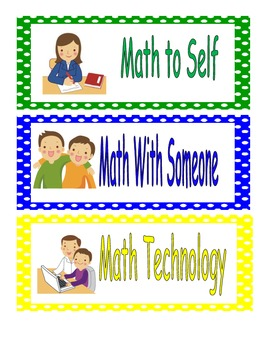 Math Workshop Headers