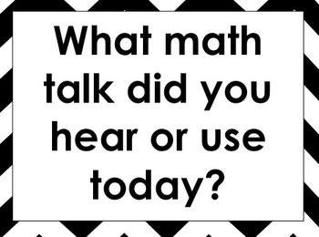 Math Workshop Headers and Common Core Practice Standard Questions - Black