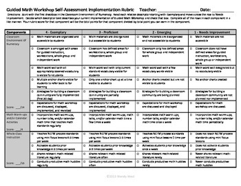 Guided Math Workshop Implementation Rubric