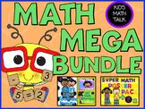 {Math Workshop} Kid's Math Talk MEGA MATH BUNDLE-Bookmarks, Lesson Plans & more!