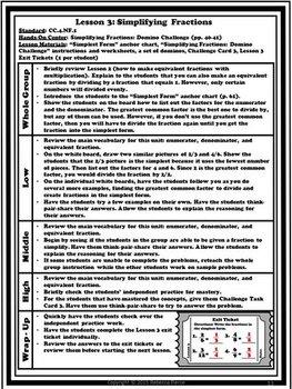 Math Workshop Kit: Fraction Equivalence and Comparison Unit (4th Grade)