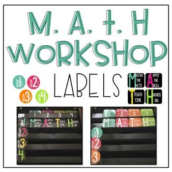 Math Workshop Labels