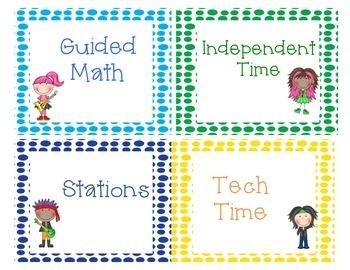 Math Workshop Labels:  Rockin' It!