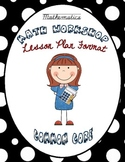 Math Workshop Lesson Plan Format {Common Core Aligned}