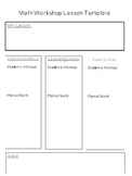 Math Workshop Lesson Plan Template