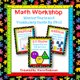 Math Workshop: Mentor Texts and Vocabulary Cards by Skill