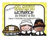 Math Games November