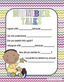 Math Workshop: Number Talks Poster