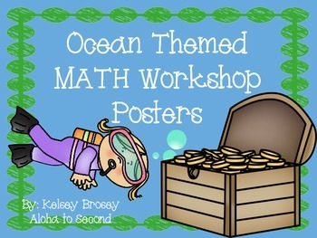 Math Workshop Ocean Themed Posters