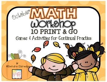 Math Games October