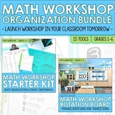 Math Workshop and Guided Math BUNDLE of Organization Tools for Math Centers