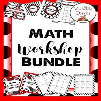 Math Workshop Organizational Bundle