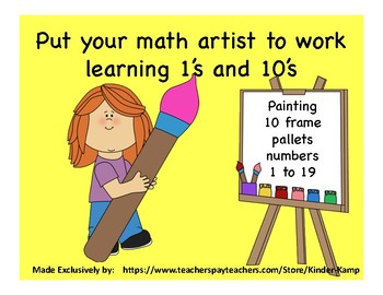 Math Workshop 10 Frame Painting Activity (1-19)