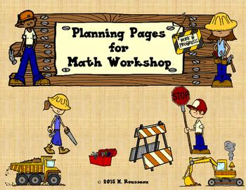 Math Workshop Planning Pages