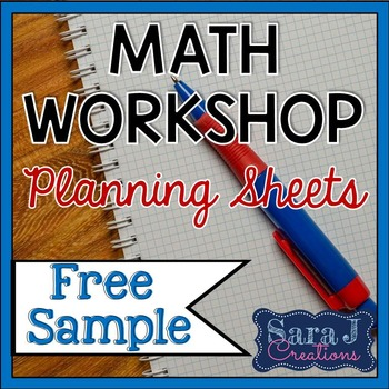 Math Workshop Planning Sheets {Free Sample}