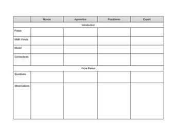 Math Workshop Planning Template