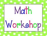 Math Workshop Polka Dot Labels