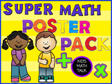 SUPER Math Posters Bundle! Kid-friendly questions, bookmar