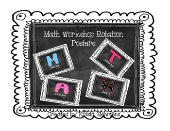 Math Workshop Posters to use for storage of math workshop items
