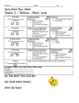Math Workshop Rotation