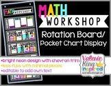 Math Workshop Rotation Board /Pocket Chart Display [editable]