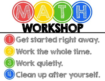 Math Workshop Rotation Board - Primary Colors