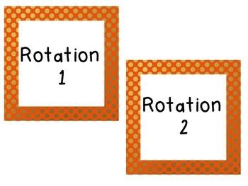 Math Workshop Rotation Labels