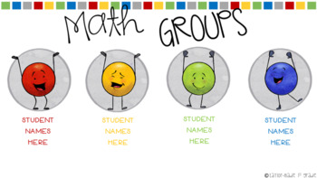 Math Workshop / Centers Rotation PowerPoint - EDITABLE with DOT DUDES