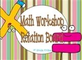 Math Workshop Rotations Board - Chocolates theme