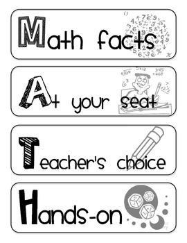 Math Workshop Set-Up Bundle