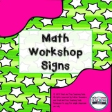 Math Workshop Signs