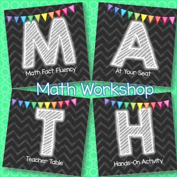 Math Workshop Signs and Labels